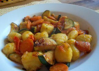 Poêlée de gnocchi aux légumes