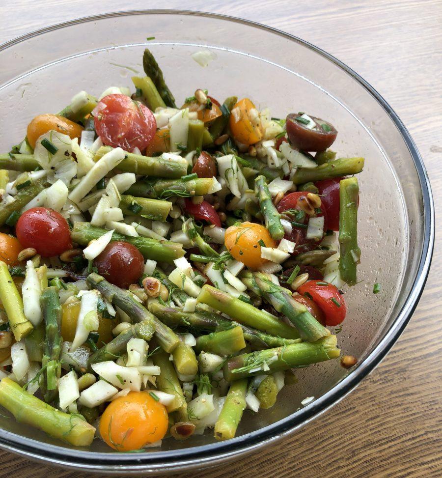 Salade d'asperges et de fenouil
