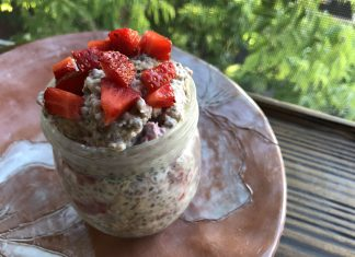 Crème d'avoine aux fraises