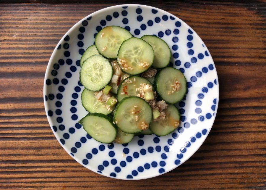 Salade de concombres à la coréenne