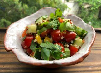 Salade de quinoa multicolore