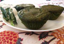 Muffins aux épinards et au chocolat
