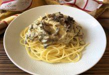 Spaghettis aux champignons
