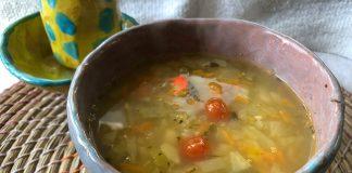 Soupe de chou aux herbes