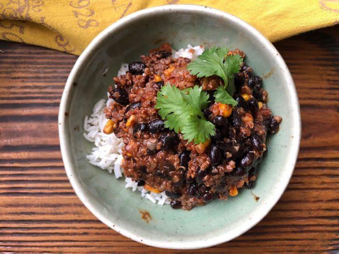 Chili de haricots noirs au cacao