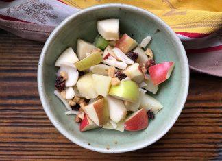 Salade de pommes de terre et pommes