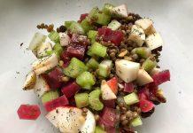 Salade de lentilles et betteraves aux pommes