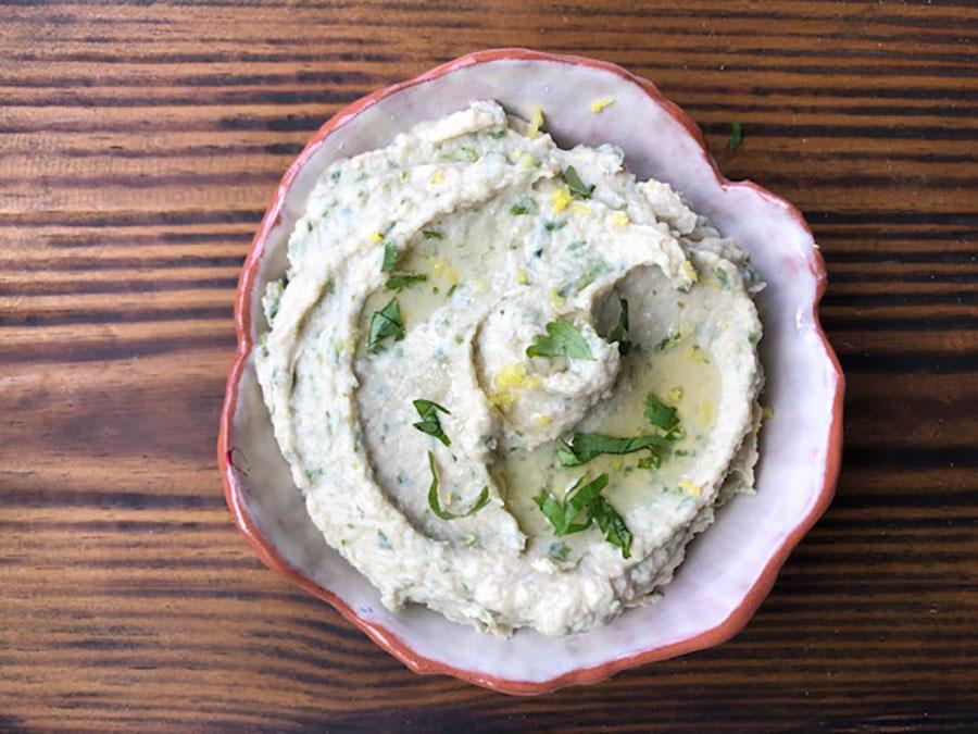Trempette haricots blancs à la coriandre