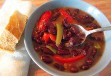 soupe aux haricots rouges et poivrons
