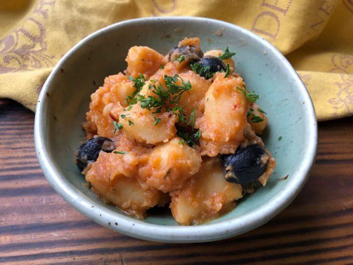 Ragoût de pommes de terre aux olives