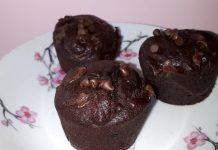 Muffins banane - double chocolat