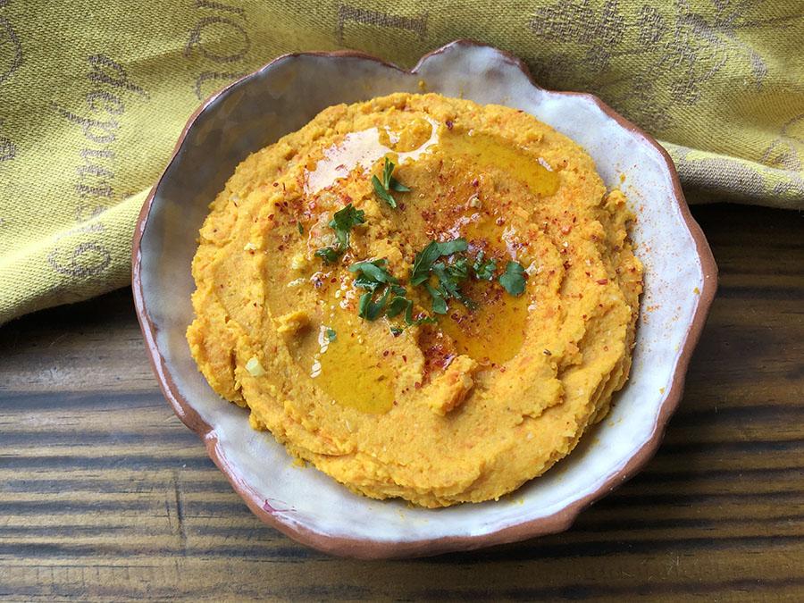 Trempette de carottes grillées