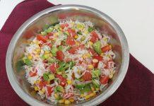 Salade de riz au pamplemousse et à l'avocat