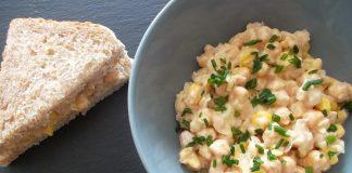 Salade de pois chiches à la mayonnaise