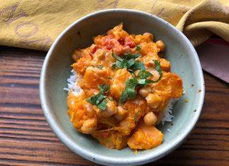 Curry de courge et de pois chiches